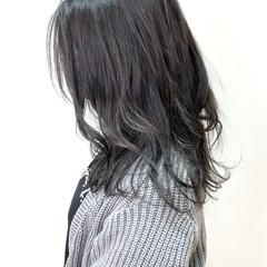外ハネ 大人かわいい アッシュ グレーアッシュ ヘアスタイルや髪型の写真・画像