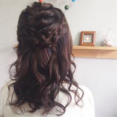 ヘアメイク 結婚式 ヘアアレンジ 編み込み ヘアスタイルや髪型の写真・画像