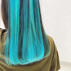 ユニコーン ダブルカラー インナーカラー ストリート ヘアスタイルや髪型の写真・画像