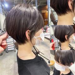 ナチュラル ショートヘア ショート ハンサムショート ヘアスタイルや髪型の写真・画像