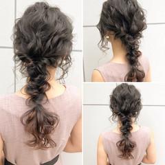 結婚式 デート 簡単ヘアアレンジ ロング ヘアスタイルや髪型の写真・画像