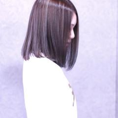 色気 外国人風 ミディアム 暗髪 ヘアスタイルや髪型の写真・画像