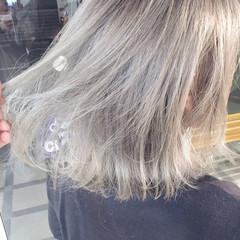 外国人風 グラデーションカラー ホワイト ハイトーン ヘアスタイルや髪型の写真・画像