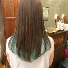 外国人風カラー セミロング ストリート バレイヤージュ ヘアスタイルや髪型の写真・画像