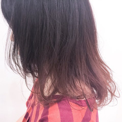 グラデーションカラー ストリート ビビッドカラー ミディアム ヘアスタイルや髪型の写真・画像