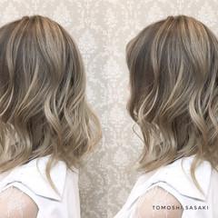 暗髪女子 3Dハイライト グラデーションカラー ガーリー ヘアスタイルや髪型の写真・画像