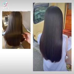 ロング 髪の病院 トリートメント 名古屋市守山区 ヘアスタイルや髪型の写真・画像