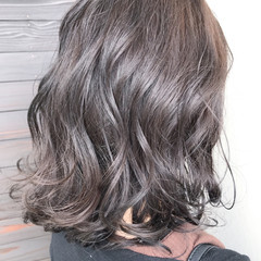 冬 ミディアム 外国人風カラー アッシュ ヘアスタイルや髪型の写真・画像