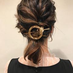 ハイライト ナチュラル ミディアム ヘアアレンジ ヘアスタイルや髪型の写真・画像