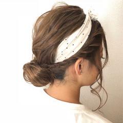 ミディアム フェミニン デート 夏 ヘアスタイルや髪型の写真・画像