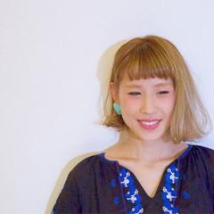 ベージュ ボブ 外国人風 透明感 ヘアスタイルや髪型の写真・画像