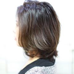 ボブ ナチュラル 色気 ブルージュ ヘアスタイルや髪型の写真・画像