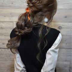 パーティ 上品 ミルクティー 愛され ヘアスタイルや髪型の写真・画像
