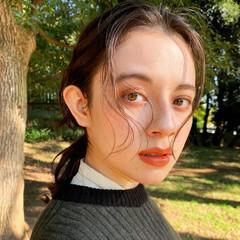 レイヤースタイル ミディアム ミディアムレイヤー ブラウン ヘアスタイルや髪型の写真・画像