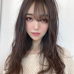 ロング 可愛い 韓国ヘア 韓国 ヘアスタイルや髪型の写真・画像