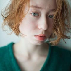 ゆるふわ ボブ 色気 簡単 ヘアスタイルや髪型の写真・画像