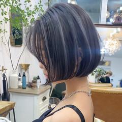 ブリーチカラー ミニボブ ボブ ハイライト ヘアスタイルや髪型の写真・画像