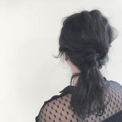 ウェーブ ショート グレージュ 簡単ヘアアレンジ ヘアスタイルや髪型の写真・画像