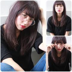 イルミナカラー 外国人風 ナチュラル セミロング ヘアスタイルや髪型の写真・画像