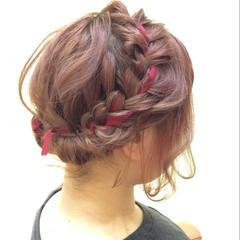 外国人風 ボブ アップスタイル 和装 ヘアスタイルや髪型の写真・画像