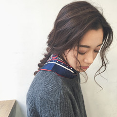 黒髪 ロング ヘアアレンジ ヘアアクセ ヘアスタイルや髪型の写真・画像