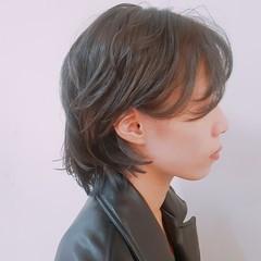 ショート アッシュ ヘアアレンジ 透明感 ヘアスタイルや髪型の写真・画像
