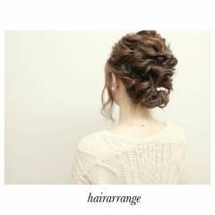 結婚式 ストリート ヘアアレンジ ミディアム ヘアスタイルや髪型の写真・画像