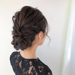 セミロング ゆるふわセット ヘアアレンジ ヘアセット ヘアスタイルや髪型の写真・画像