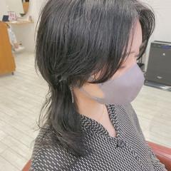 ネオウルフ ミディアムレイヤー ウルフカット ウルフレイヤー ヘアスタイルや髪型の写真・画像