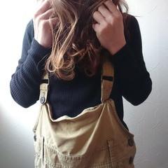 ストリート セミロング オシャレ 可愛い ヘアスタイルや髪型の写真・画像