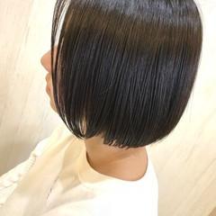 ナチュラル ボブ 透明感カラー 艶髪 ヘアスタイルや髪型の写真・画像