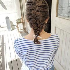 ヘアアレンジ ガーリー デート アウトドア ヘアスタイルや髪型の写真・画像