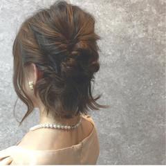 デート ヘアアレンジ 上品 切りっぱなし ヘアスタイルや髪型の写真・画像