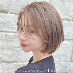 インナーカラー ミニボブ ボブ ショートボブ ヘアスタイルや髪型の写真・画像