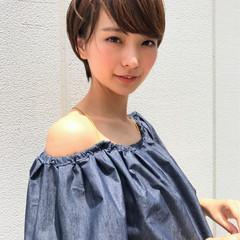 エフォートレス ショート 簡単ヘアアレンジ ヘアアレンジ ヘアスタイルや髪型の写真・画像