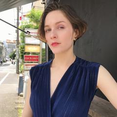 デート ハイトーン モード 透明感 ヘアスタイルや髪型の写真・画像