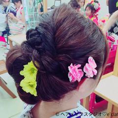 花火大会 アップスタイル 夏 大人かわいい ヘアスタイルや髪型の写真・画像