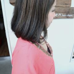 ボブ グラデーションカラー ナチュラル 透明感 ヘアスタイルや髪型の写真・画像