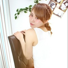 モテ髪 結婚式 ミディアム 簡単ヘアアレンジ ヘアスタイルや髪型の写真・画像