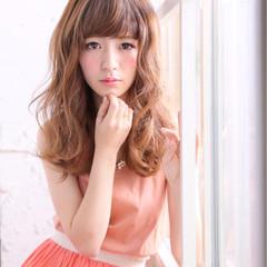 外国人風 ガーリー フェミニン ロング ヘアスタイルや髪型の写真・画像