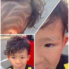 かわいい 子供 ストリート 丸顔 ヘアスタイルや髪型の写真・画像