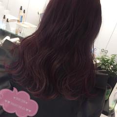 ガーリー ベリーピンク ピンクアッシュ フェミニン ヘアスタイルや髪型の写真・画像