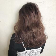 ガーリー グラデーションカラー ピンク 透明感 ヘアスタイルや髪型の写真・画像