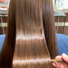 最新トリートメント ロング ナチュラル 髪質改善 ヘアスタイルや髪型の写真・画像