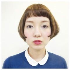 外国人風 ガーリー ショートボブ ボブ ヘアスタイルや髪型の写真・画像