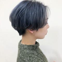 モード ショートボブ ブリーチ ショート ヘアスタイルや髪型の写真・画像