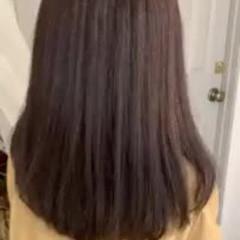 ゆるふわ デート セミロング ストレート ヘアスタイルや髪型の写真・画像