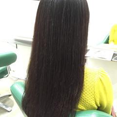 秋 ロング ブラウン 暗髪 ヘアスタイルや髪型の写真・画像