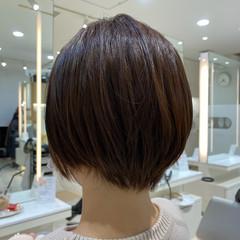 デート 小顔 ショートボブ ショート ヘアスタイルや髪型の写真・画像