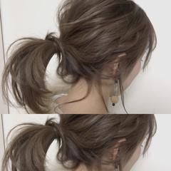 ミルクティー ヘアアレンジ ナチュラル デート ヘアスタイルや髪型の写真・画像